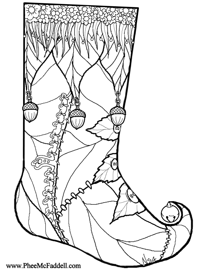 coloring pages stocking - photo#29