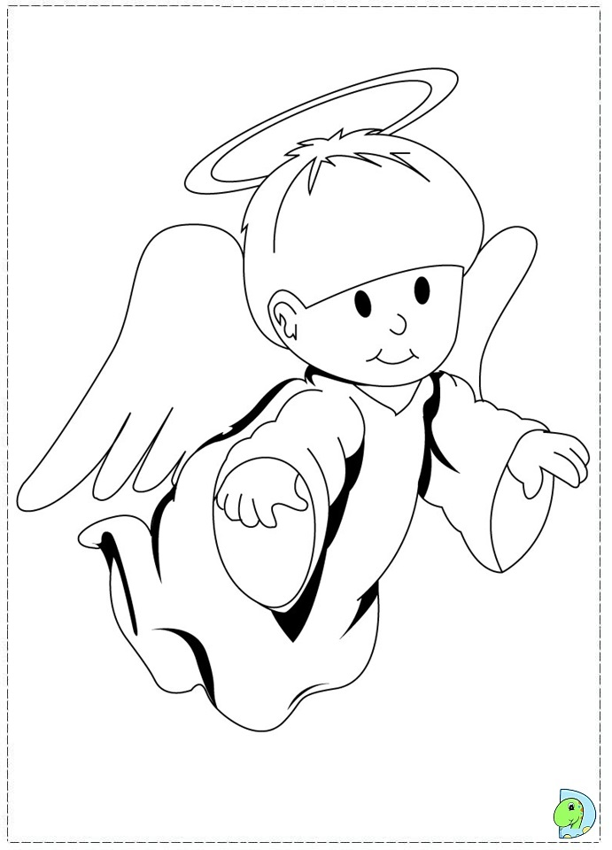 LITTLE ANGELS DRINKING Colouring Pages (page 3)