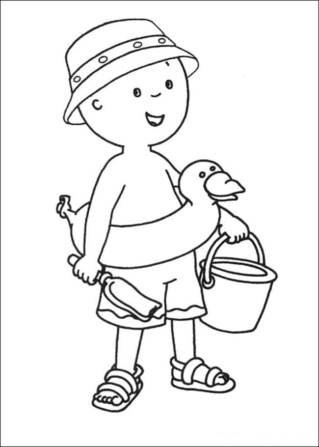 Caillou Coloring Pages Online - Picture 37 – Free Printable