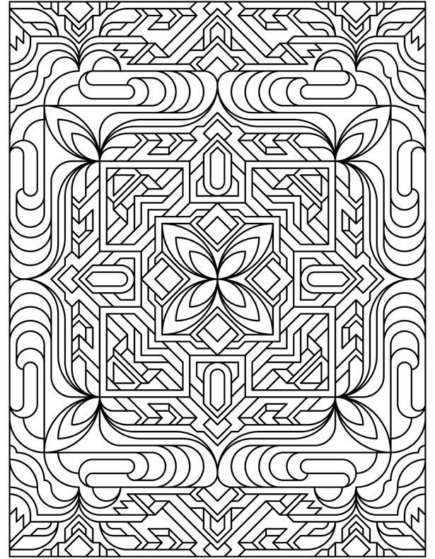 Tessellations Coloring Pages Coloring Home