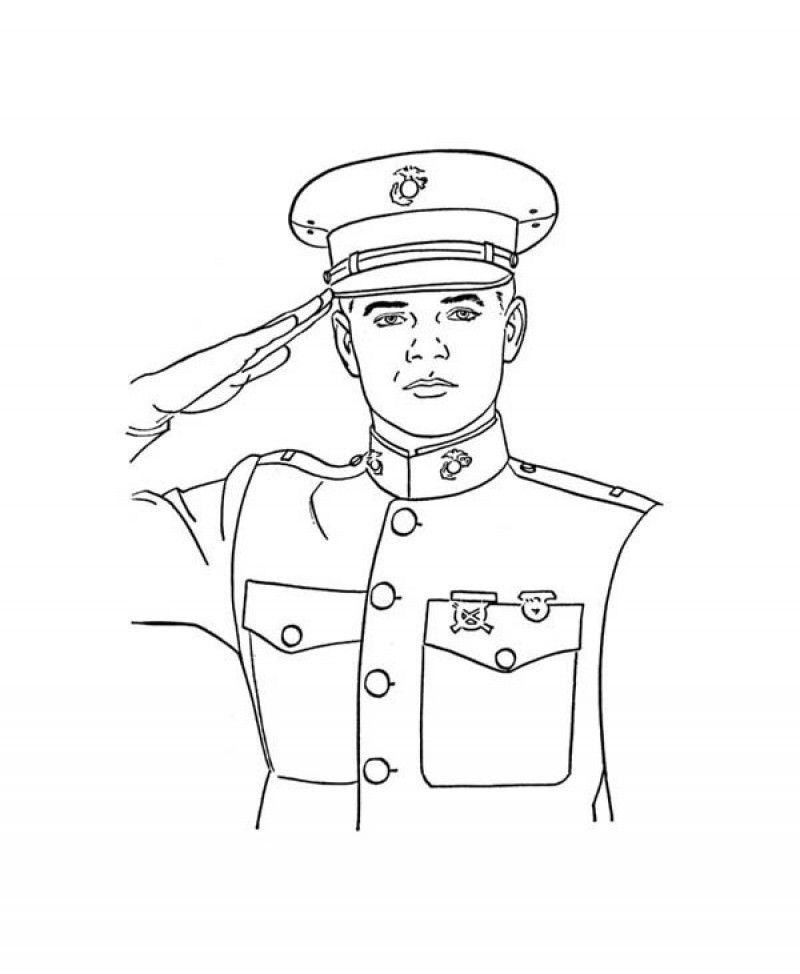 Navy Officer Coloring Pages Coloring