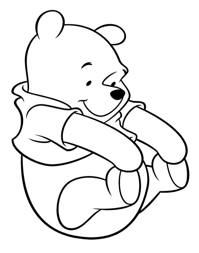 pooh baire coloring pages - photo#1