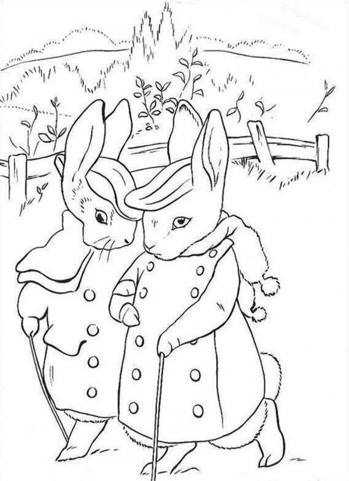 Peter Rabbit Coloring Pages Home