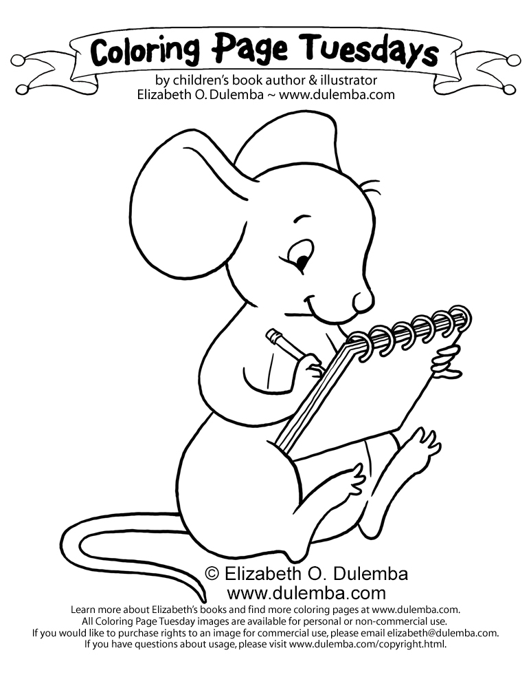dulemba: Coloring Page Tuesday - Drawing Mouse