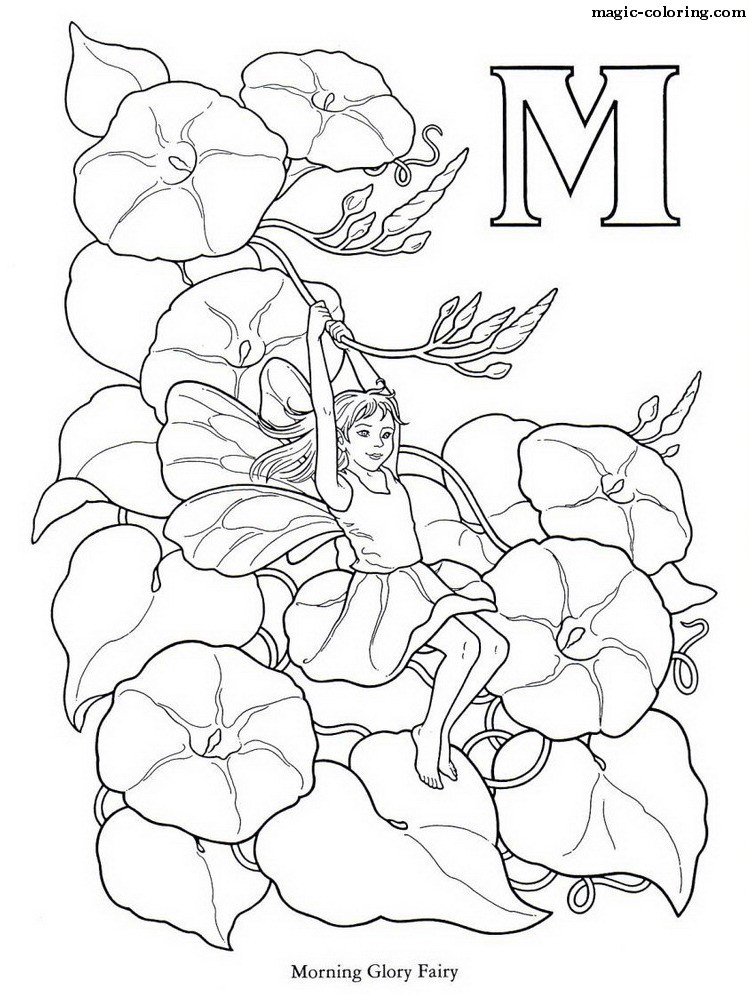 Flower fairy coloring pages az coloring pages for Flower fairy coloring pages