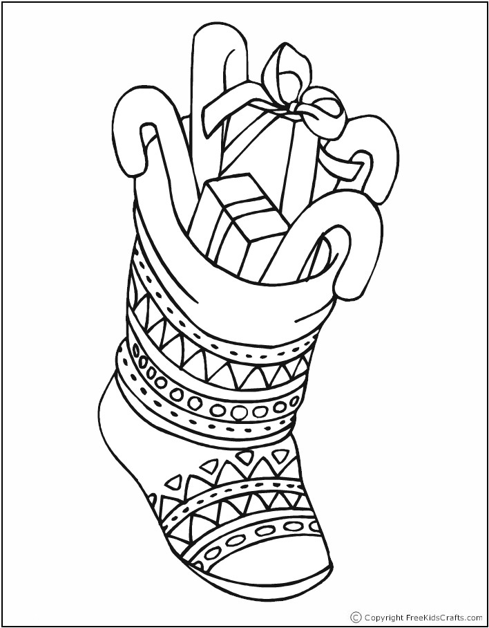 christmas stockings coloring pages - christmas stocking coloring pages az coloring pages