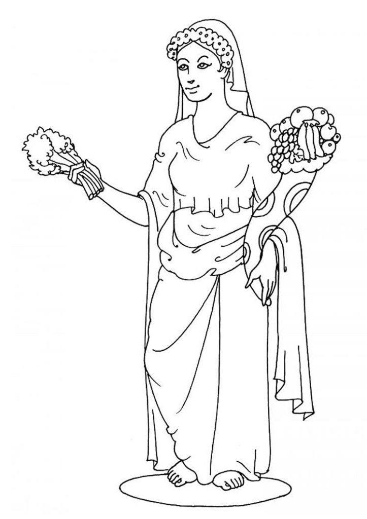 All gods and godesses free colouring pages for Coloring pages of greek gods