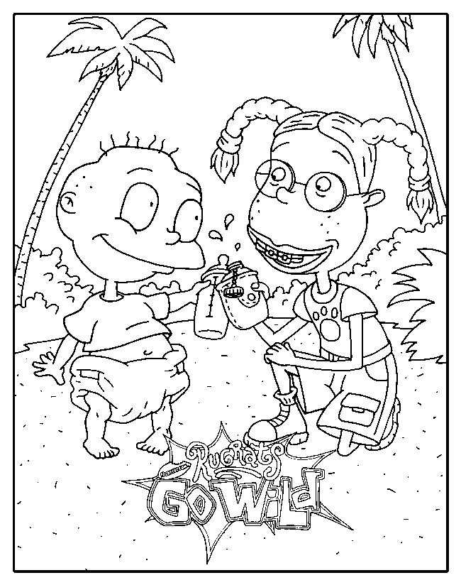 Rugrats Go Wild Coloring Pages Coloring Home