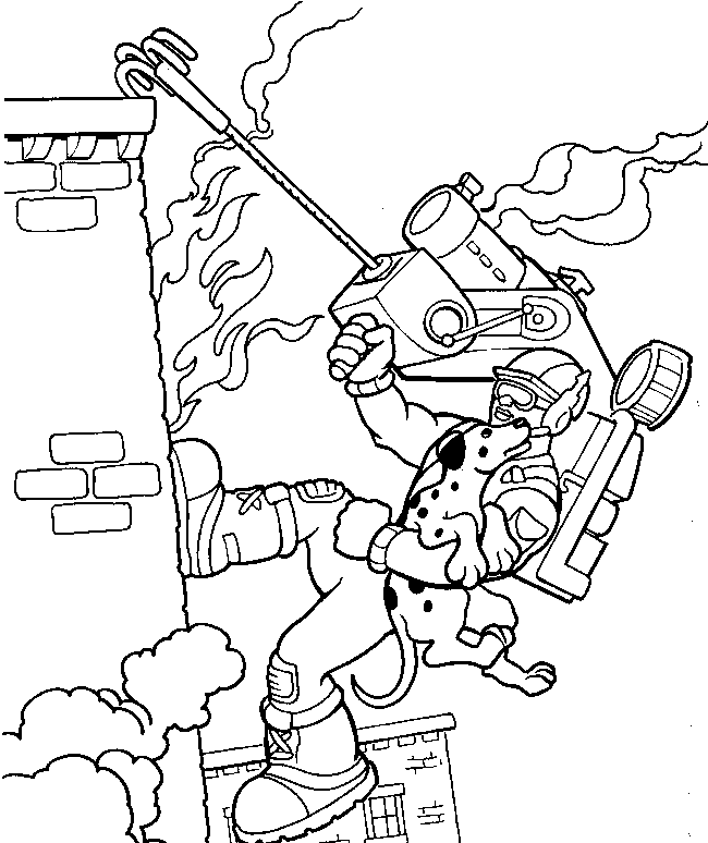 firefighter heroes coloring pages - photo#11