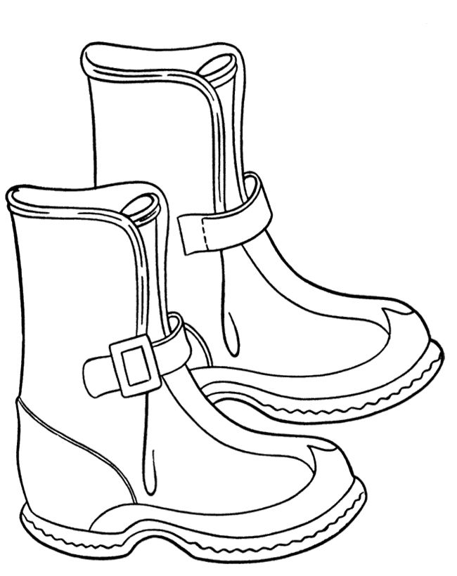 Pictures Winter Boots Coloring Pages - Winter Coloring Pages