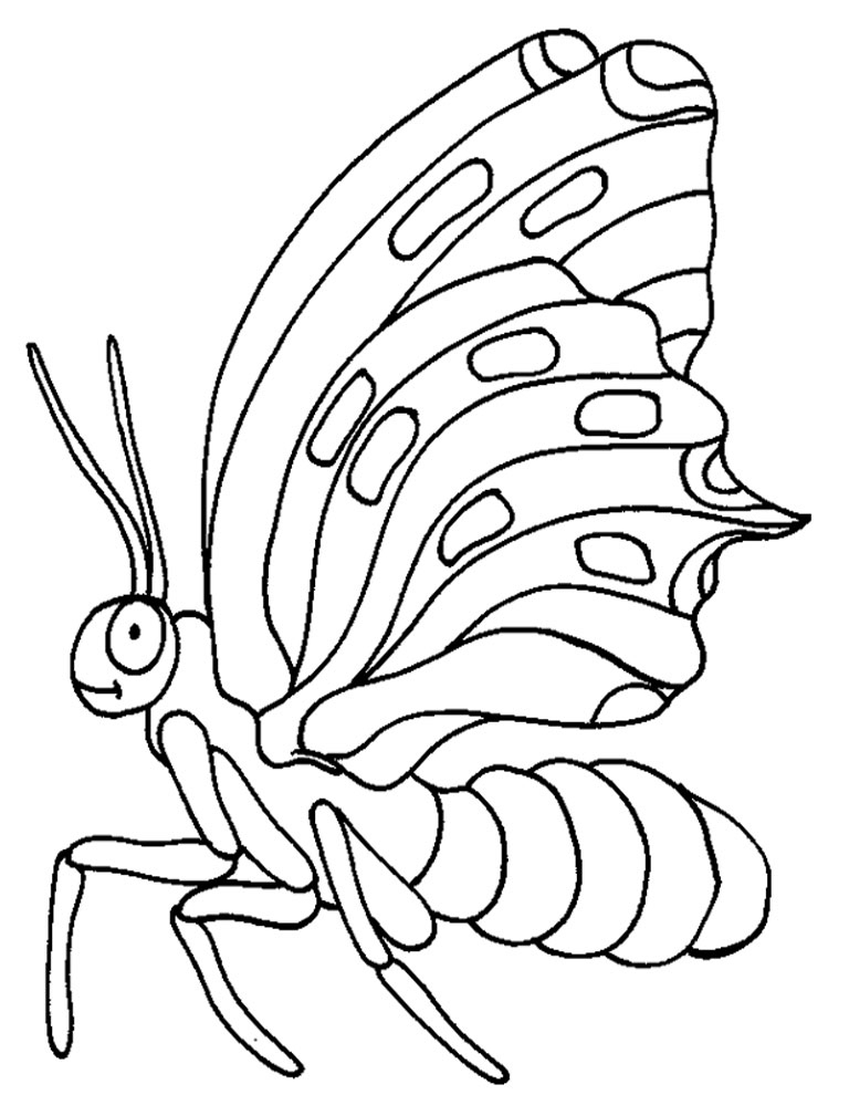 Flying Butterfly Printable Insect Coloring Pages :Kids ...