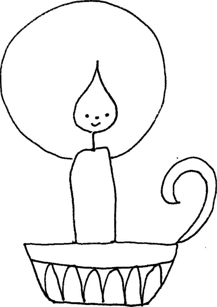 Candle Coloring Pages Coloring Home