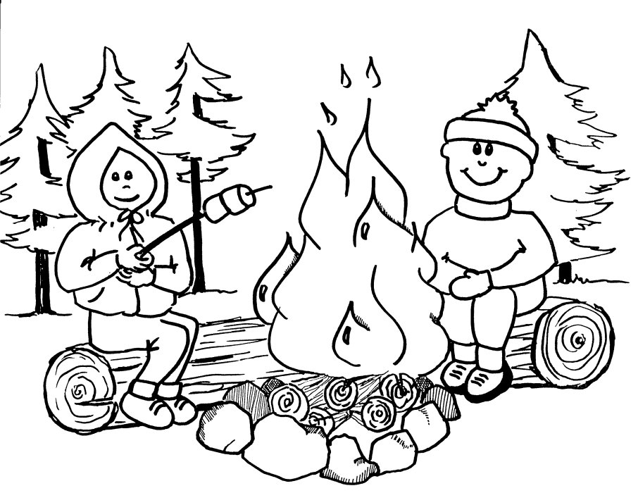 Camping Color Pages Az Coloring Pages