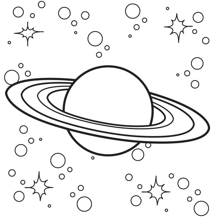 coloring pages on space - photo#3