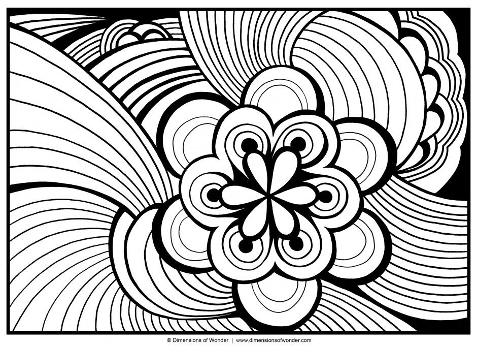 Detailed Abstract Colouring Pages 185255 Abstract Coloring Pages