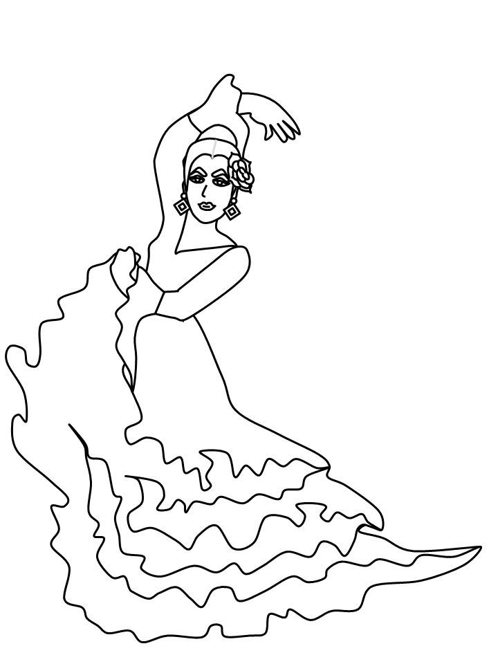 coloring pages flamenco dancers - photo#9
