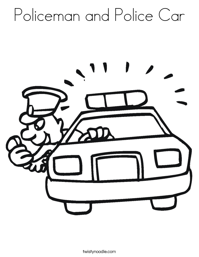 Police Car Coloring Pages | Coloring Pages