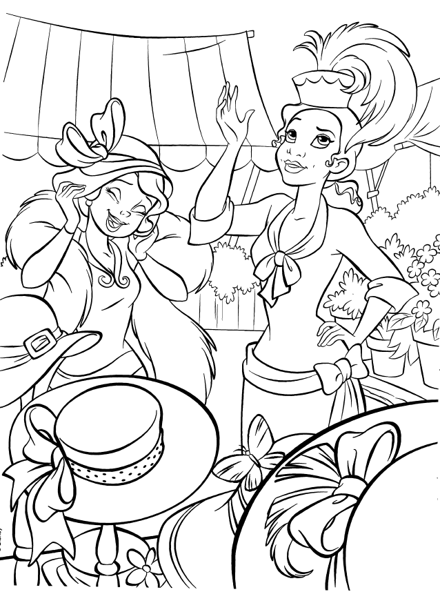 Disney Princesses - tiana colouring pages