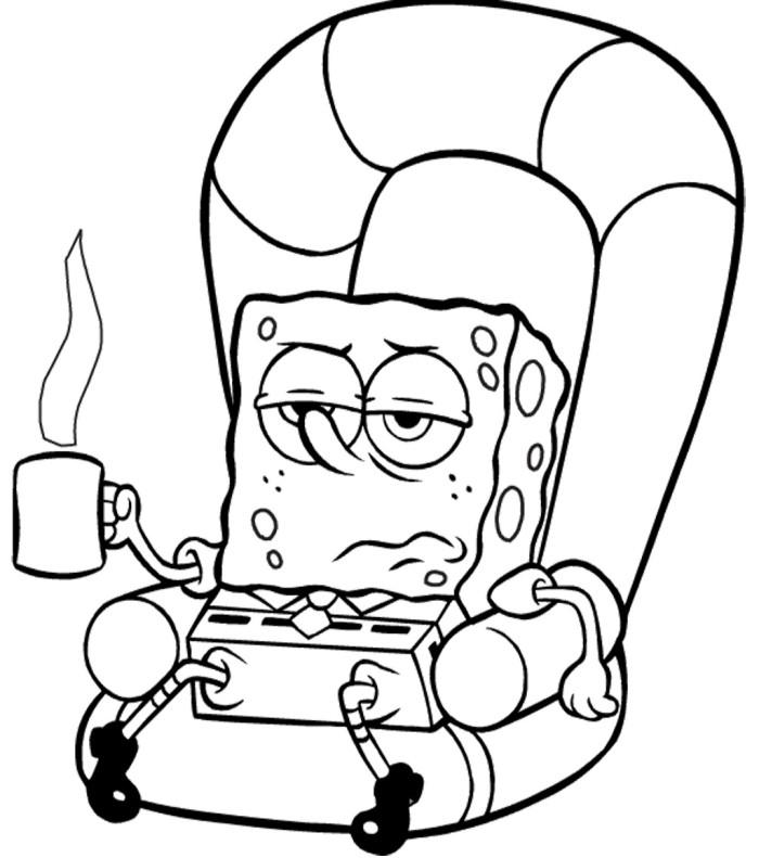Spongebob sick coloring page spongebob cartoon coloring for Sick coloring pages