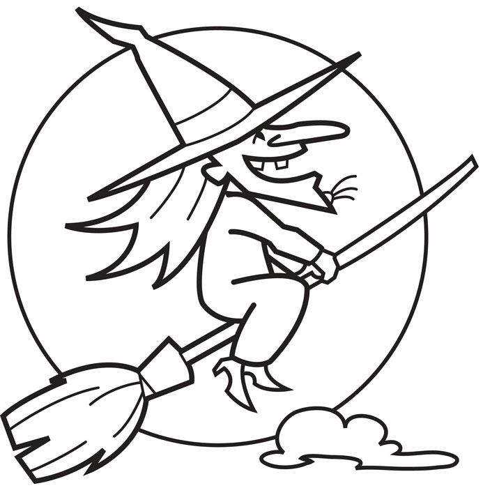 Halloween Pictures Of Witches Coloring Home Witches Coloring Pages