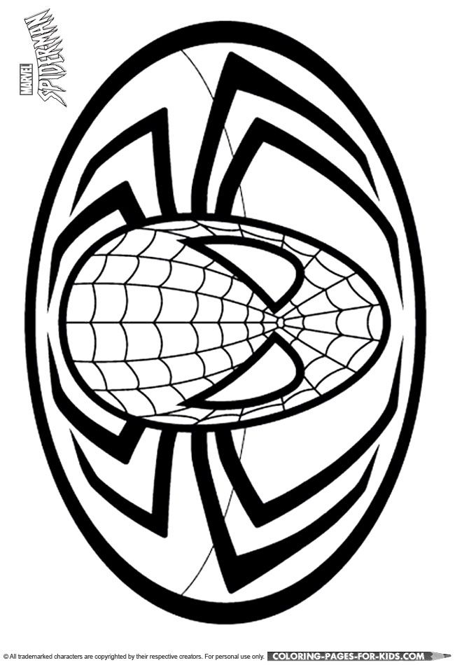 Spider-man Coloring Page - Spider-man logo