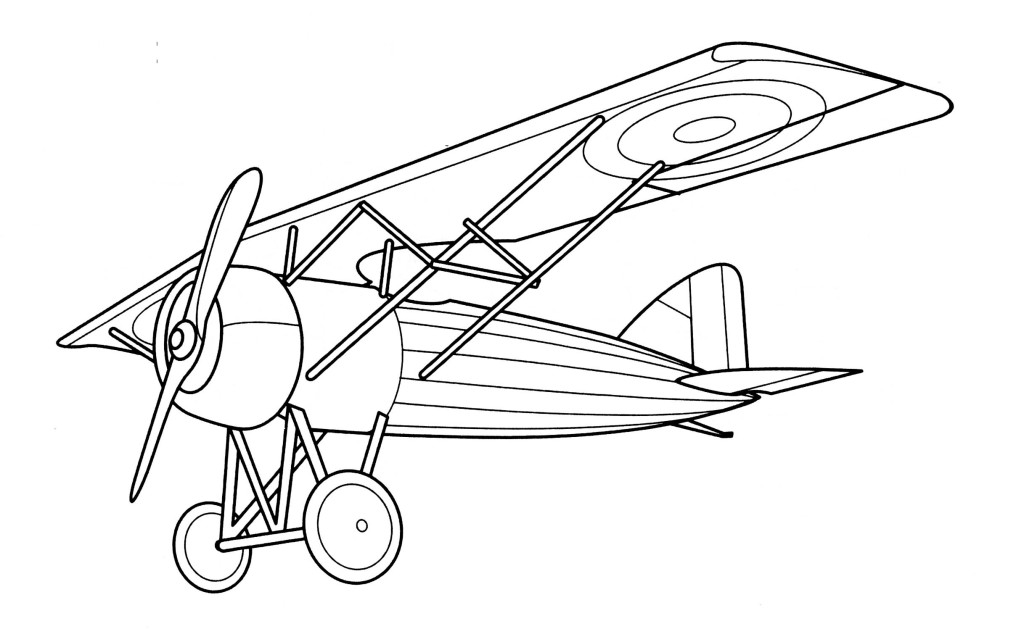 Vintage Airplane Coloring Page Airplane Coloring Pages