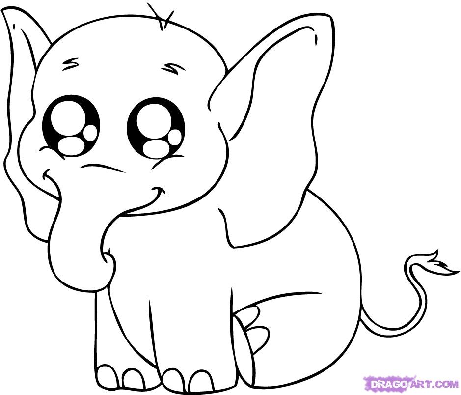 Free Coloring Pages Animals Elephants : Search results � how to draw a baby elephant