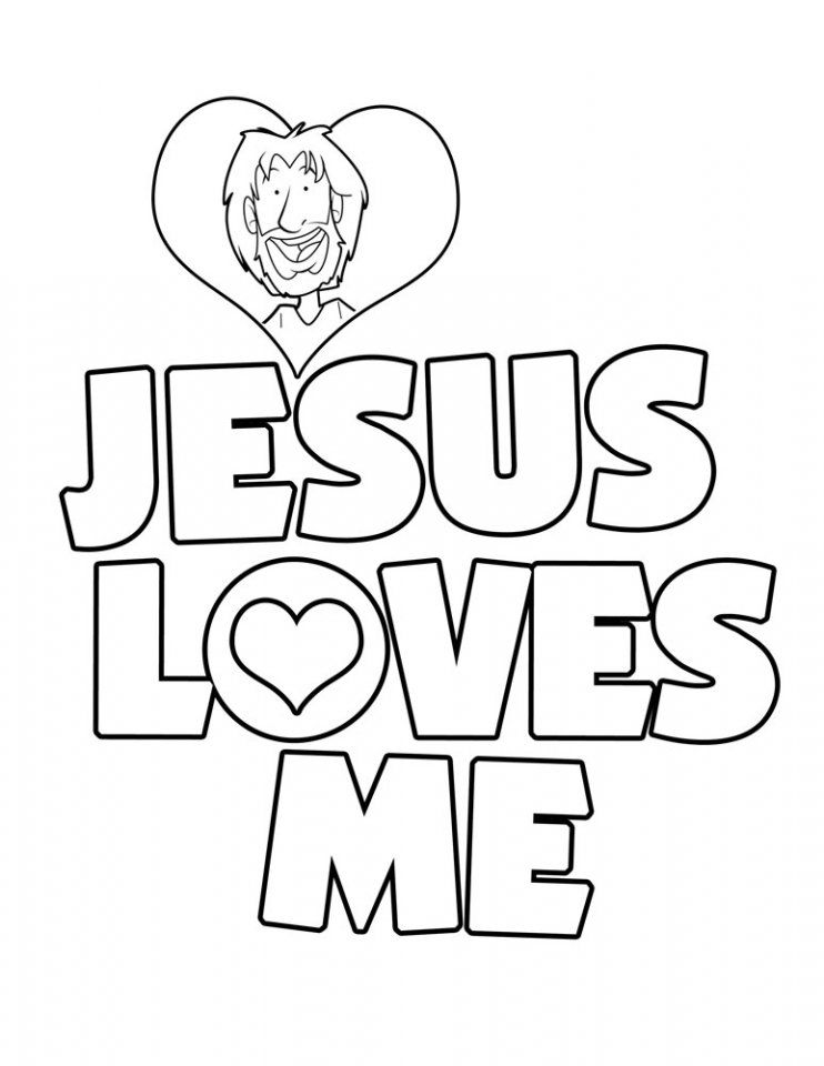 jesus loves me colouring pages