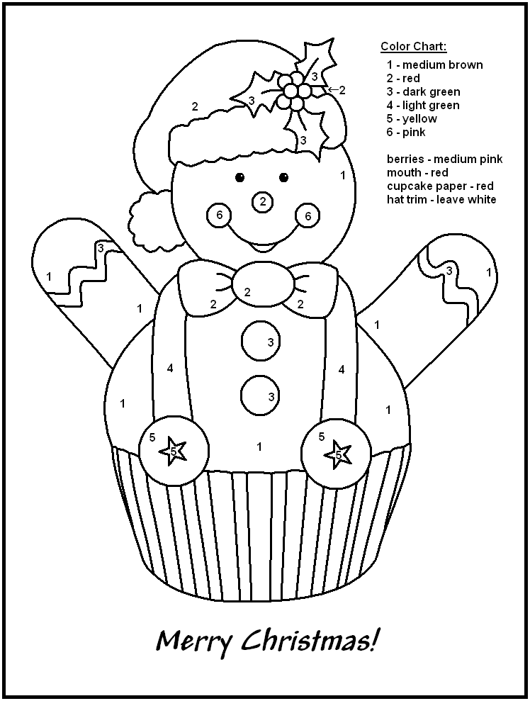 Colouring By Number Christmas : Color by number christmas pages az coloring