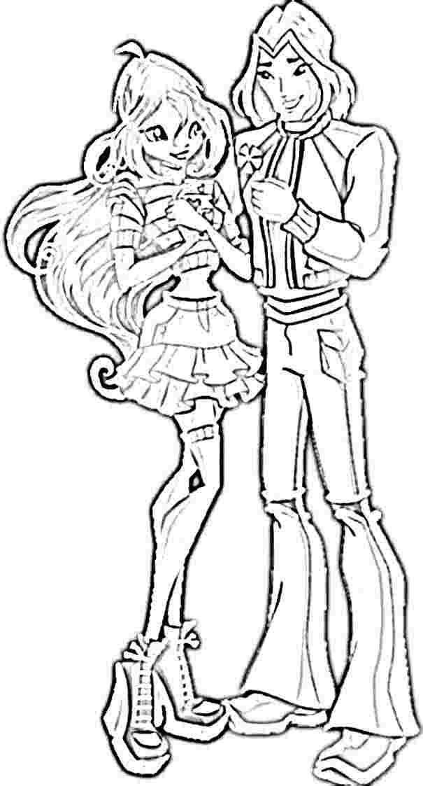 Winx Coloring Pages Pdf : Bloom and sky winx club colouring pages coloring home