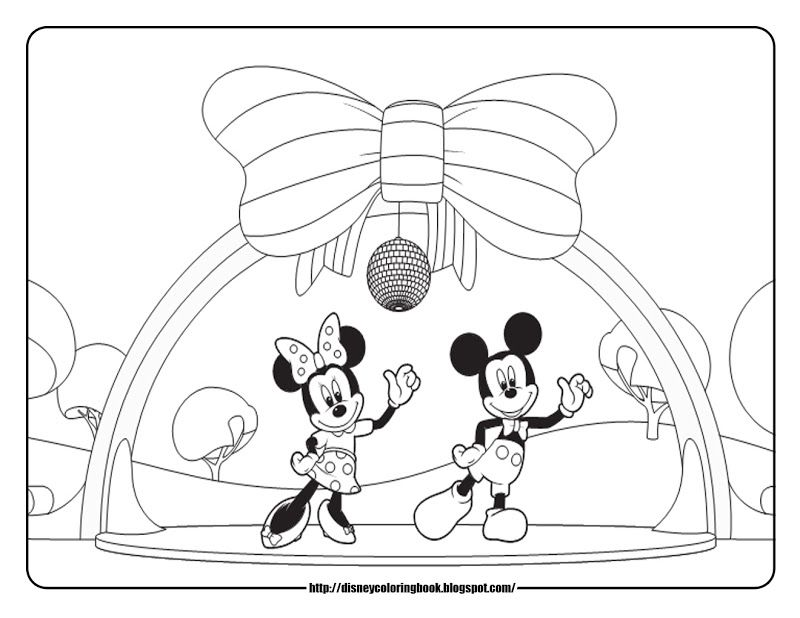 Printable Mickey Mouse Coloring Pages