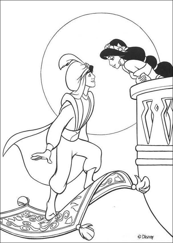 Disney Aladdin Coloring Pages - Coloring Home