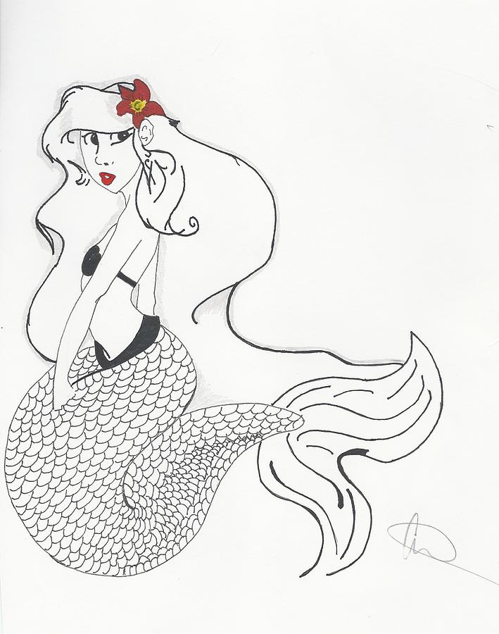 The Little Mermaid by Michelle Cruz - The Little Mermaid Drawing