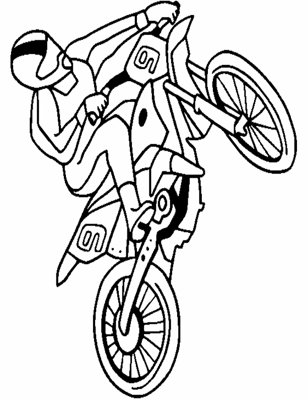 Coloring Pages Of Motorcycles Eassumecom With Dirt Bike Coloring