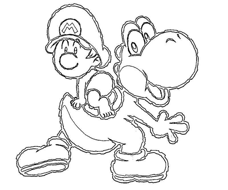 perfect yoshi coloring pages with yoshi coloring pages