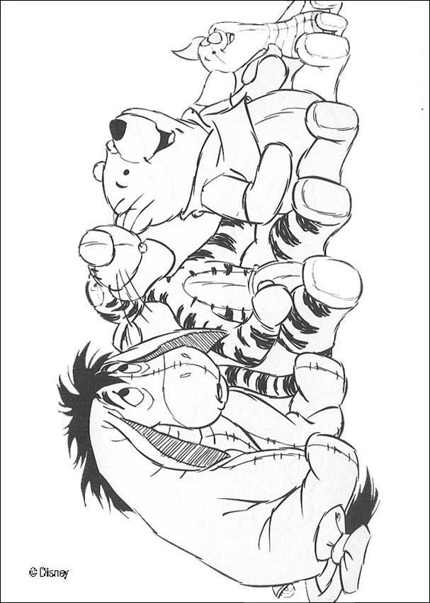 winnie the pooh coloring pages winnies friends piglet eeyore - Tigger Eeyore Coloring Pages