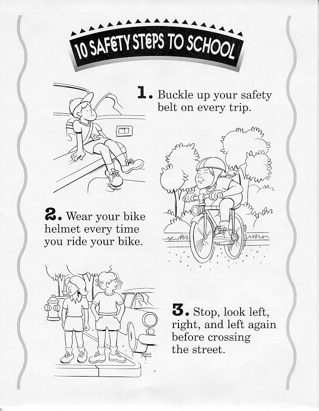 Bicycle Safety Coloring Page - Coloring Home