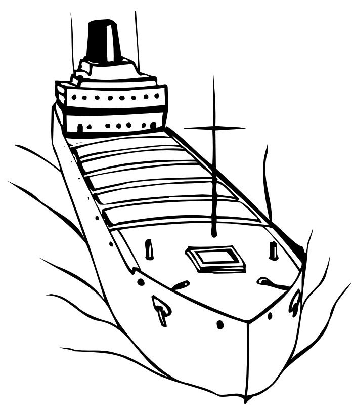 Cargo Ship Great Coloring Page |Transportation Coloring
