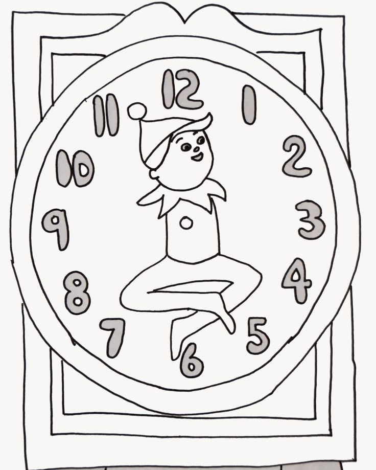 Elf On The Shelf Coloring Pages To Print Coloring Home Coloring Pages On The Shelf