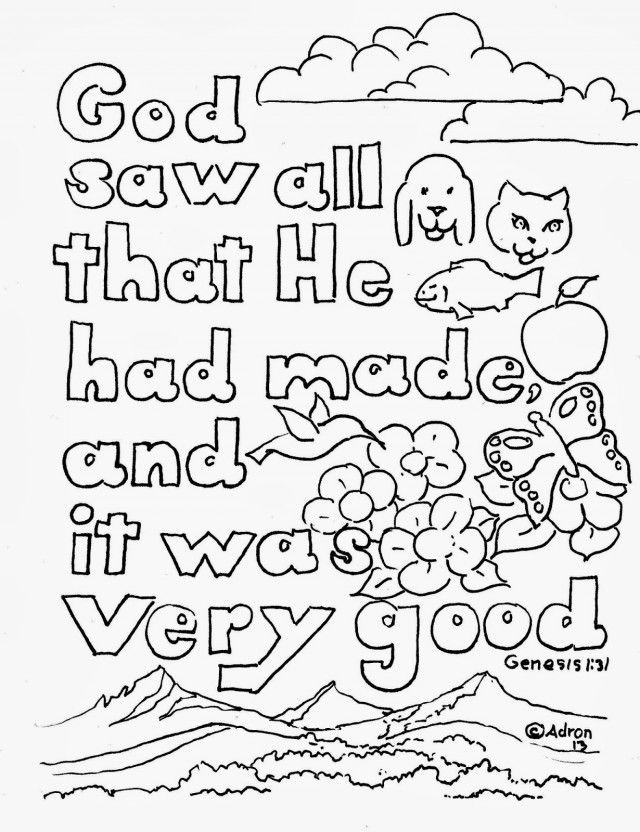 scripture coloring pages free - photo #43