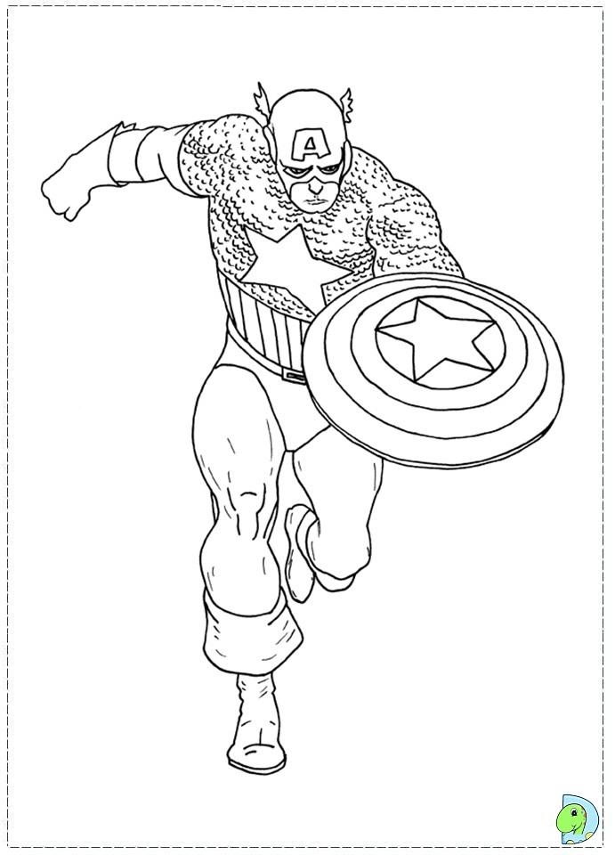 captain america coloring page az coloring pages
