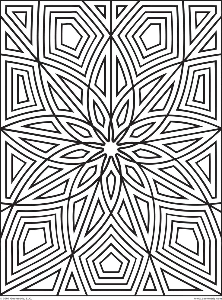 Pin by Kat Ruiz on Geometric Coloring Pages