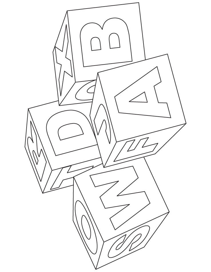 baby blocks coloring pages - photo #5