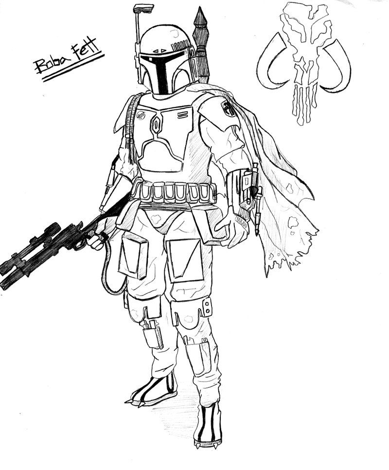 - Star Wars Boba Fett Coloring Pages - Coloring Home