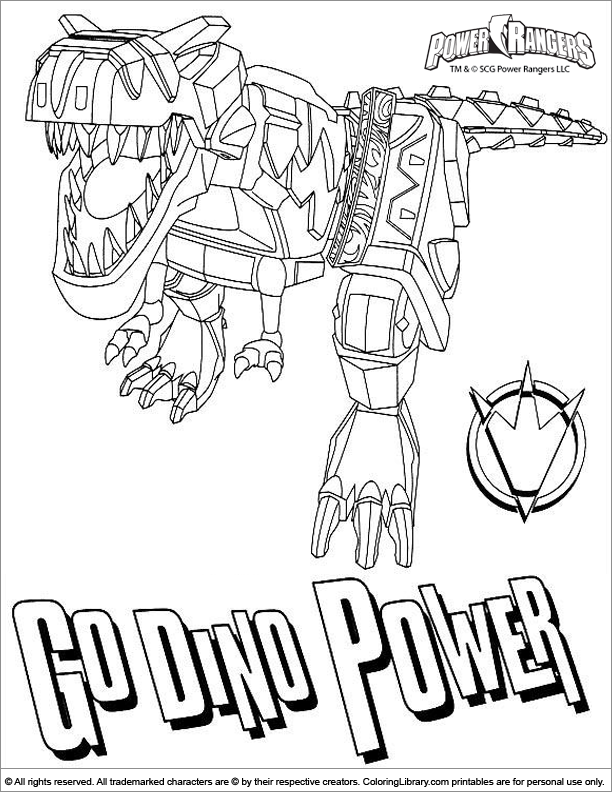 Printable Power Rangers Coloring