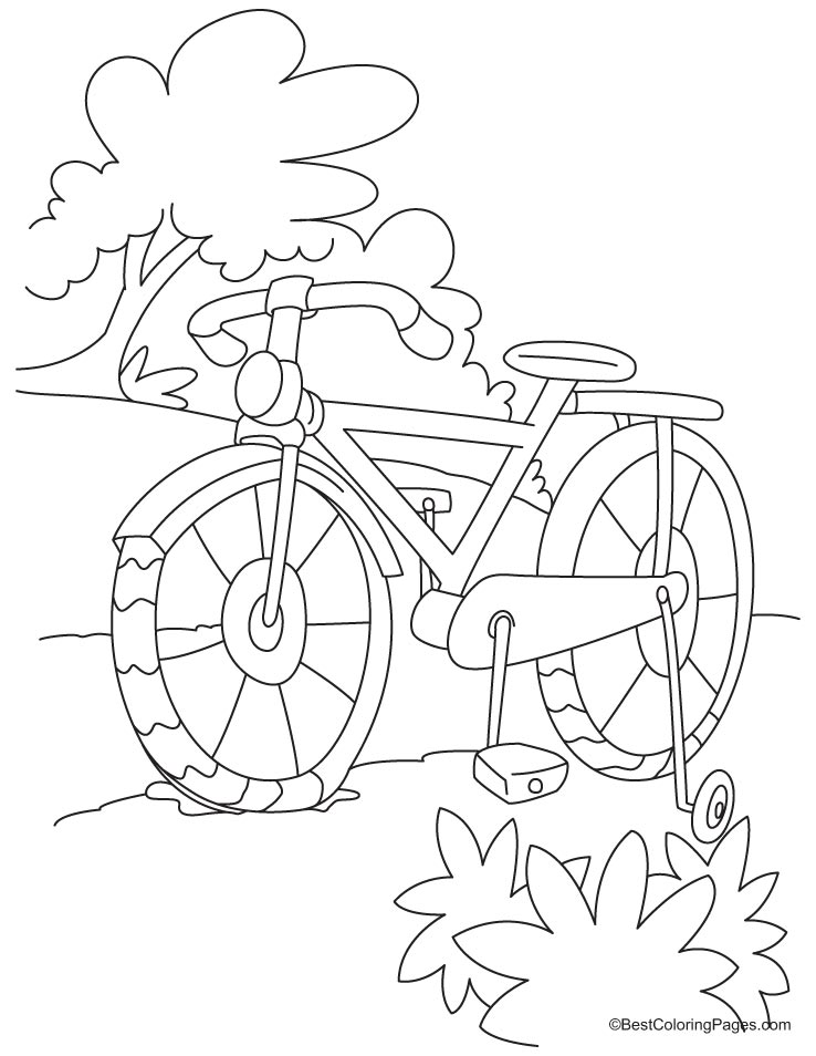It is a photo of Exceptional Bike Safety Coloring Pages