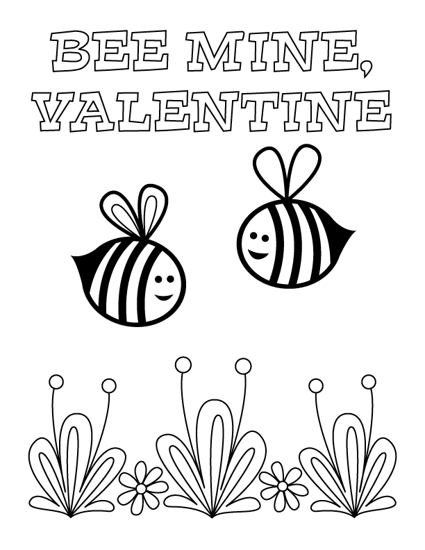 Valentine's Day Coloring Pages | Make and Takes