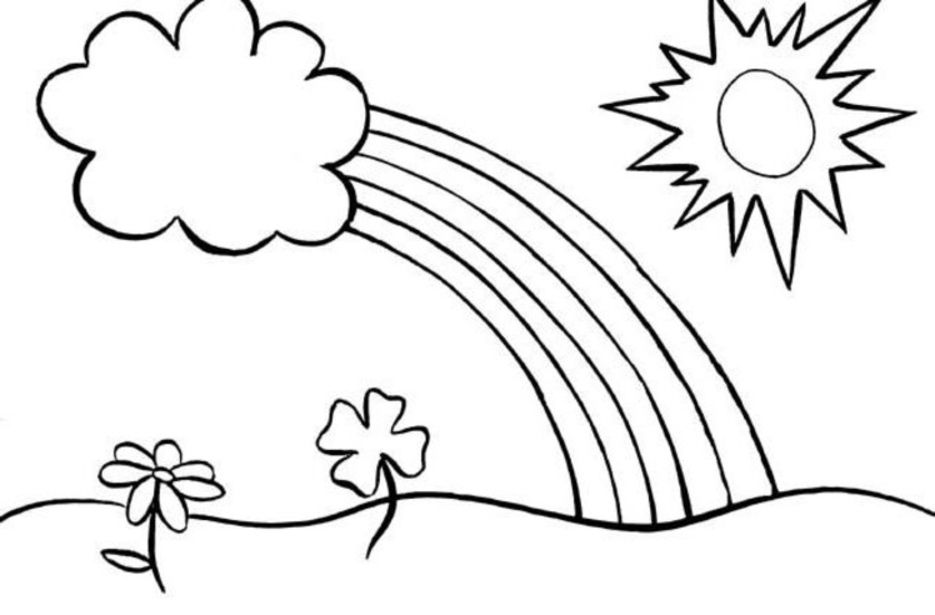 Rainbow Coloring Pages - Coloring Home