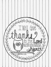 Christian Thanksgiving - Coloring Pages for Kids and for Adults