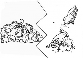 Some Seed was Eaten by Birds in Parable of the Sower Coloring Page ...